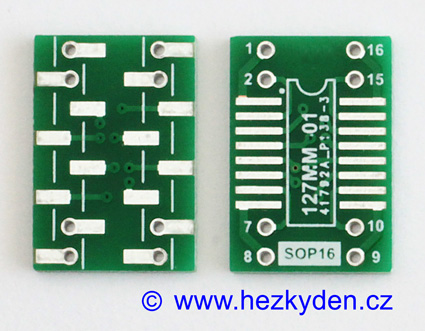 SMD adapter SOP16 do DIL16