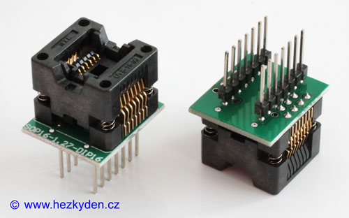 Test socket 14 pin SMD PCB