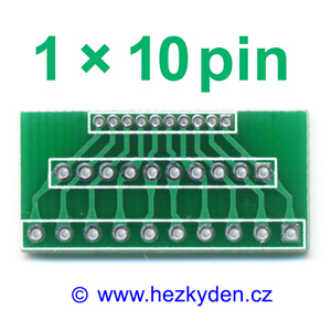 Adapter Jumper 1.27-2.00-2.54-mm 1x10pin