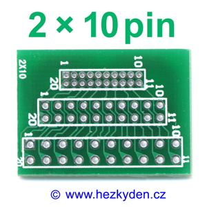 Jumper adapter 1.27-2.00-2.54-mm 2x10pin