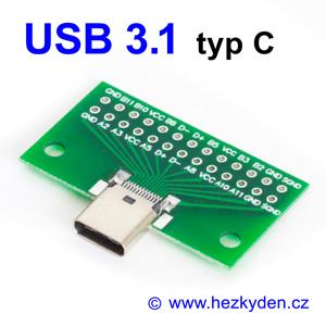 Adapter USB 3.1 typ C konektor zásuvka komplet
