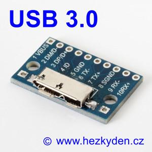 Adapter/redukce USB 3.0 micro typ B