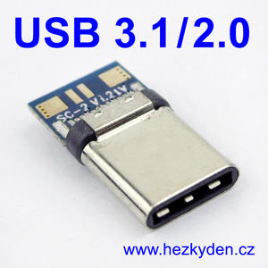 Adapter USB 3.1 typ C konektor 2.0