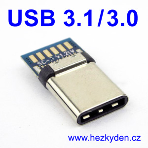 Adapter USB 3.1 typ C konektor 3.0