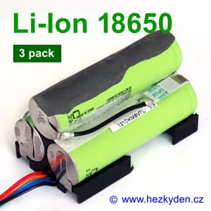 Aku 3-pack Li-Ion 18650 Panasonic CGR18650CG