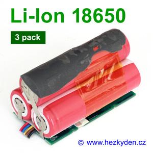 Aku 3-pack Li-Ion 18650 Panasonic Sanyo UR18650A