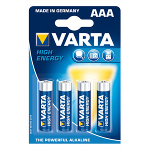 Alkalická baterie Varta AAA - sada 4 ks