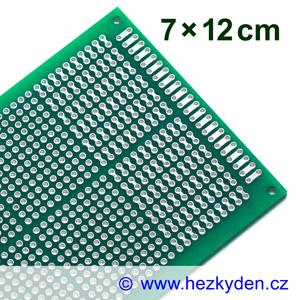 Bastldeska univerzální plošný spoj 7x12cm PROFI oboustranná SPECIAL typ 2