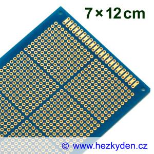 Bastldeska univerzální plošný spoj 7x12cm PROFI oboustranná SPECIAL typ 3