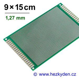 Bastldeska univerzální plošný spoj 9x15cm PROFI oboustranná - rozteč 1,27 mm