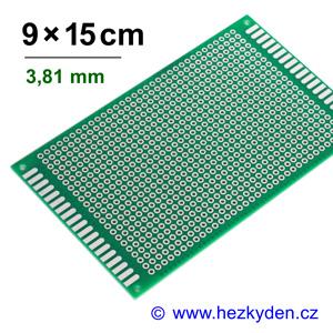 Bastldeska univerzální plošný spoj 9x15cm PROFI jednostranná - rozteč 3,81 mm