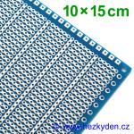 Bastldeska univerzální plošný spoj 10x15 cm PROFI jednostranná modrá