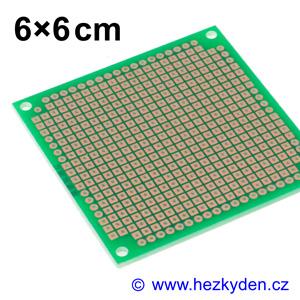 Bastldeska univerzální plošný spoj 6x6cm profi jednostranná FR4