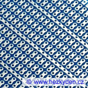 Bastldeska univerzální plošný spoj 7×9 cm PROFI jednostranná modrá