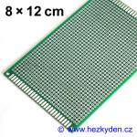 Bastldeska univerzální plošný spoj 8x12 cm PROFI oboustranná