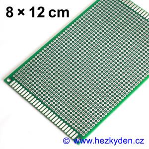 Bastldeska univerzální plošný spoj 8×12 cm PROFI oboustranná