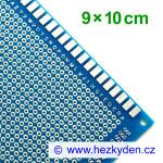 Bastldeska univerzální plošný spoj 9x10 cm PROFI jednostranná modrá