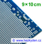Bastldeska univerzální plošný spoj 9x10 cm PROFI jednostranná modrá SPECIAL