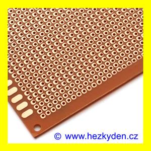 Bastldeska jednostranná tvrzený papír - univerzální plošný spoj