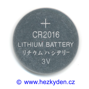 Lithiová baterie CR2016