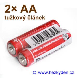 Tužková baterie Panasonic AA R6 - sada 2 ks