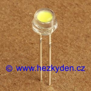 Bílá LED dioda 5mm osvětlovací