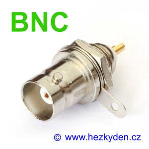 BNC konektor na panel