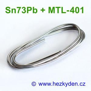 Cín – měkká pájka 2mm – Sn73Pb + MTL-401