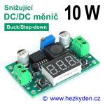 DC/DC měnIč LM2596DVM snižující 10 watt voltmetr