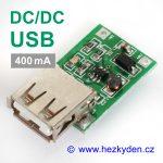 DC-DC měnič USB zvyšující 400mA