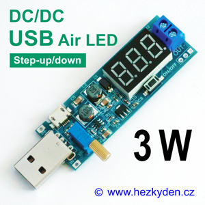 DC-DC měnič USB Air LED