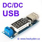 DC/DC snižující měnIč USB DVM1509 s voltmetrem