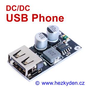 DC-DC měnič USB Phone