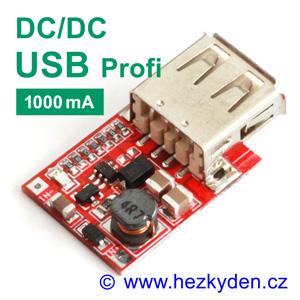 DC-DC měnič USB zvyšující 1000mA