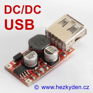 DC/DC snižující měnIč USB XL2001