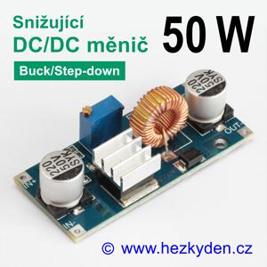 DC/DC měnIč XL4015 snižující 50 watt