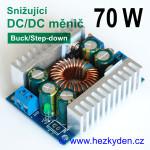 Výkonový DC-DC měnič XL4016 snižující 70 watt