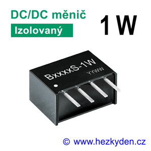 DC/DC měnič modul 1 W