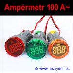 Digitální ampérmetr LED kontrolka MAXI - 100A AC