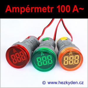 Digitální ampérmetr LED kontrolka MAXI – 100A AC