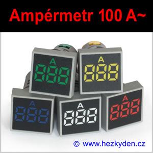 Digitální ampérmetr LED kontrolka SQ - 100A AC