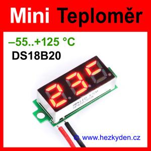 Digitální teploměr LED modul mini DS18B20