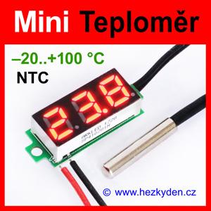 Digitální teploměr LED modul mini NTC