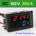 Panelový digitální voltmetr ampérmetr 100V 300A DC