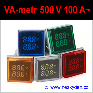 Digitální voltmetr ampérmetr LED kontrolka SQ KOMBI AC