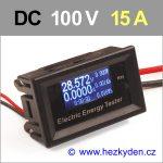 Panelový multifunkční měřák OLED 100V 15A