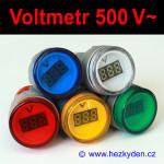 Digitální voltmetr LED kontrolka 500V AC