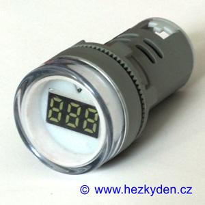 Digitální voltmetr LED kontrolka 500V AC bílý
