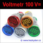 Digitální voltmetr LED kontrolka MAXI - 100V DC