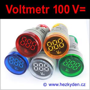 Digitální voltmetr LED kontrolka MAXI – 100V DC
